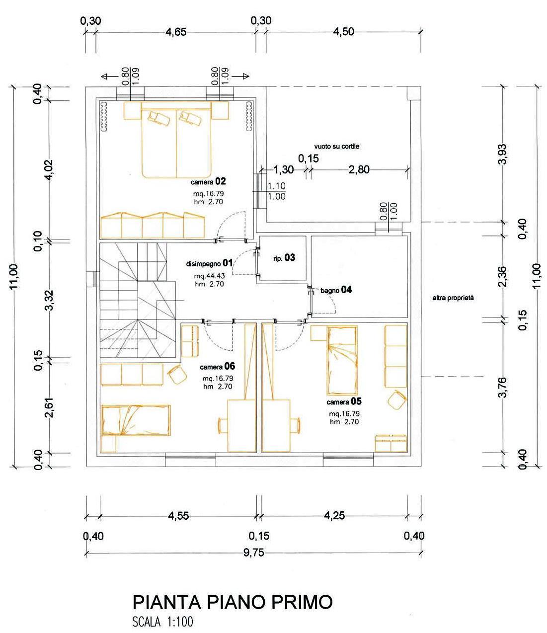 Progetto 70 mq progetto arch alessandra sacchi via l for Bagno nei piani del garage