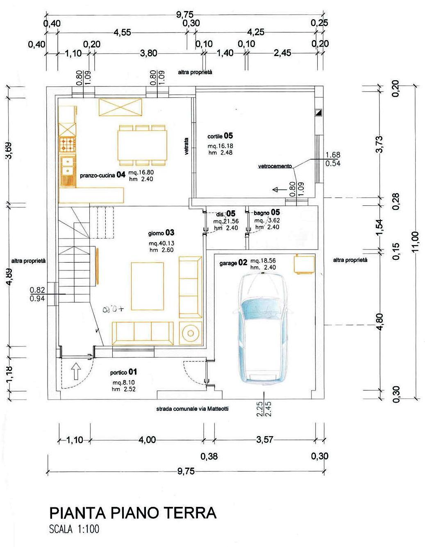 Limena in zona centrale porzione di casa da ristrutturare con progetto immobiliare progetto - Progetto casa 40 mq ...